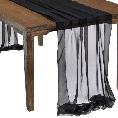 This elegant Black Graceful table drape is one of several unique Gracefuls available in the Fabulous Events selection of table drapes and other linen rentals. Use it to create effortless beauty for your tables, and combine it with our other linen designs for a truly original theme. Rent it here today. 877-200-2424