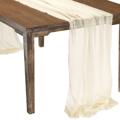 This elegant Ivory Graceful table drape is one of several unique Gracefuls available in the Fabulous Events selection of table drapes and other linen rentals. Use it to create effortless beauty for your tables, and combine it with our other linen designs for a truly original theme. Rent it here today. 877-200-2424