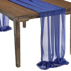 This elegant Royal Blue Graceful table drape is one of several unique Gracefuls available in the Fabulous Events selection of table drapes and other linen rentals. Use it to create effortless beauty for your tables, and combine it with our other linen designs for a truly original theme. Rent it here today. 877-200-2424