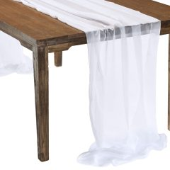 This elegant White Graceful table drape is one of several unique Gracefuls available in the Fabulous Events selection of table drapes and other linen rentals. Use it to create effortless beauty for your tables, and combine it with our other linen designs for a truly original theme. Rent it here today. 877-200-2424