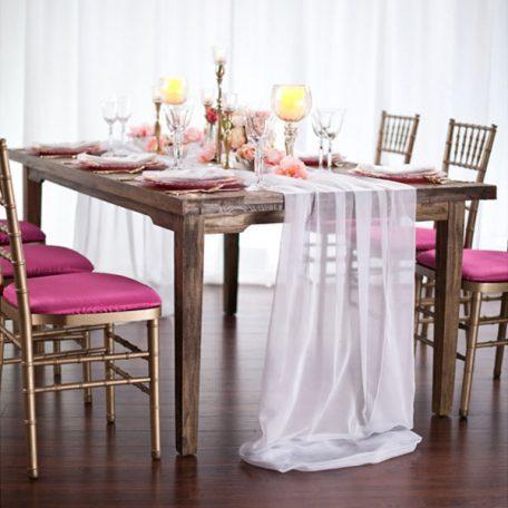 White Graceful Table Drape