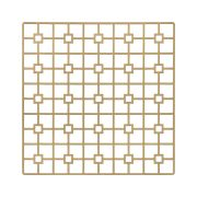 With its supremely simple shape and controlled, but edgy pattern, the Gold Deco Metal Placemat will highlight fine china, gold-rimmed crystal and simple flatware in classic Deco-era style. But it would also support and enhance an over-the-top ethnic theme of stylized patterns and brilliant colors. Rent it here today.
