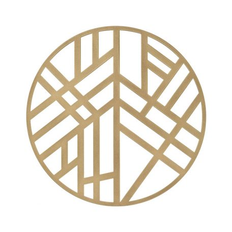 The Gold Edge Metal Placemat is elegantly simple, with a soothing graphic pattern that has a calming Zen-like personality. The pattern is somehow reminiscent of bamboo stalks, simple enough to allow other patterns to take center stage, but bold enough to add interest to any setting. Rent it here today.