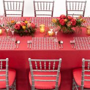 The Platinum Deco Metal Placemat from Fabulous Events may seem simple in form, but it is distinctive and prompts a dramatic reaction from all. One of the two unique patterns and the metal placemat collection is destined to create lasting impressions on any event table. Rent metal placemats from Fabulous Events Today.