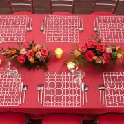 The Platinum Deco Metal Placemat from Fabulous Events may seem simple in form, but it is distinctive and prompts a dramatic reaction. One of the two unique patterns and the metal placemat collection is destined to create lasting impressions on any event table. Rent metal placemats from Fabulous Events Today.