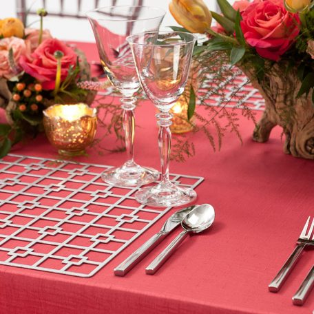 Platinum Deco Metal Placemat Charger Rental for Events