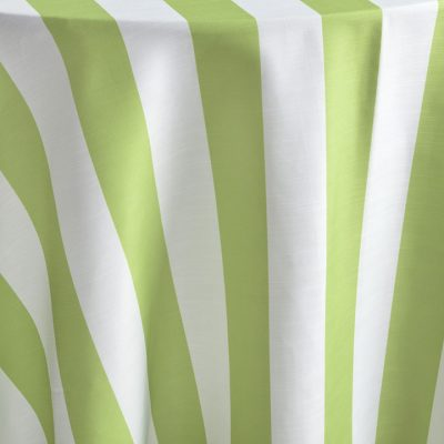 Aloe Cabana Stripe's green and white stripe combination is a perfect fresh playful choice for a number of affairs. Stylish and flexible, this member of the Palm Beach Chic linen family offers a wealth of possibilities! Browse the entire collection today!