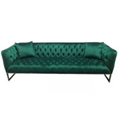 Rent our Emerald Green Ethan Sofa for your next event. This is the perfect piece for your soft seating. Rent it here today from Fabulous Events.