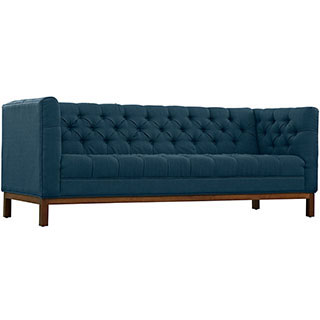 Our Azure Blue Harris sofa is perfect for any type of event. This will elevate your soft seating for your party. Rent it here today.