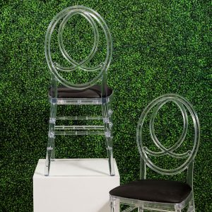 Rent Infinity Chairs for Weddings and Special Events in Michigan. Available in White, Gold, Black and Clear.