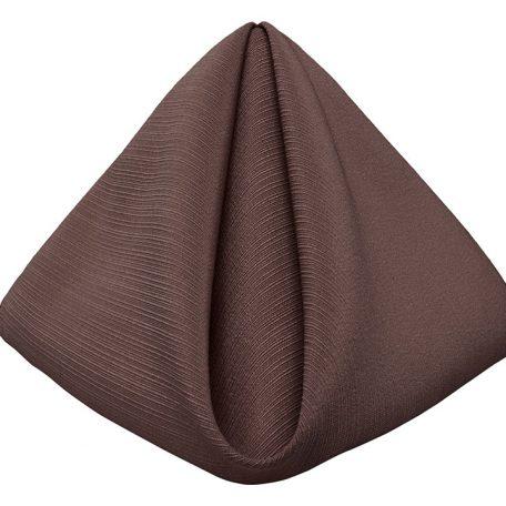 Chocolate Brown Faille Dinner Napkin
