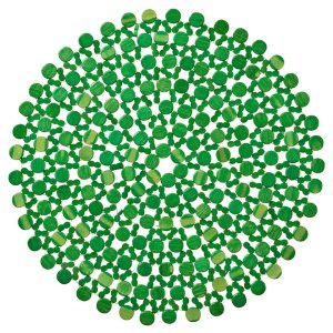 The Green Beaded Placemat brings a calming touch with its emerald hue and simplistic woven pattern. This placemat pairs elegantly with minimalistic design and intricate styles alike. Rent it here today.
