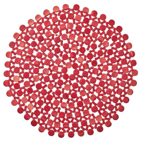 The Red Beaded Placemat injects drama and vibrancy to any table design with radiant red bamboo beads. This placemat is perfect for drawing focus to your table design in the simplest, most elegant way. Rent it here today.
