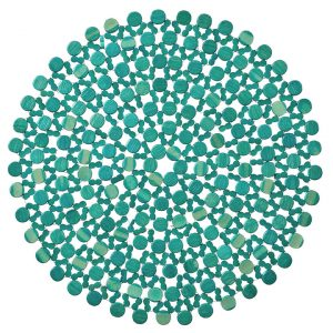 The Turquoise Beaded Placemat is bright and playful, tastefully complementing an array of patterns and palettes. The bold color and flattened bamboo beads marry traditional placemat style with today's trends, sure to catch guests' attention. Rent it here today.