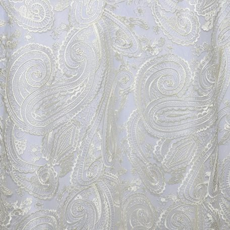 Ivory Paisley Lace shown over White Classic Poly