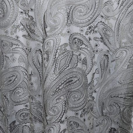Silver Paisley Lace shown over White Classic Poly