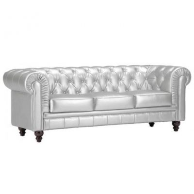Silver Sofa rental for special events in Southeast Michigan