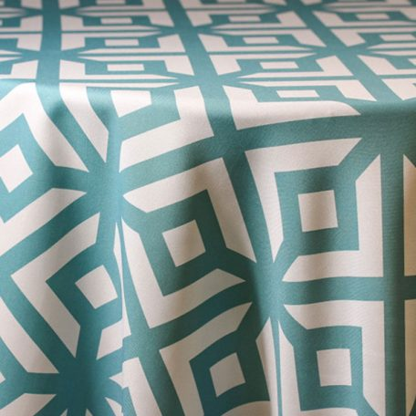 Rent Geometric Printed Tablecloth Linens for Parties and Special Events.