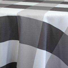 Grey and White Plaid Linen Rentals from Fabulous Events
