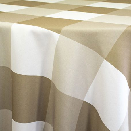 Rent Beige Khaki Plaid Linens for Parties and Special Events from Fabulous Events