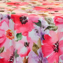 Floral Print Tablecloth Linen Rental for Parties and Events.