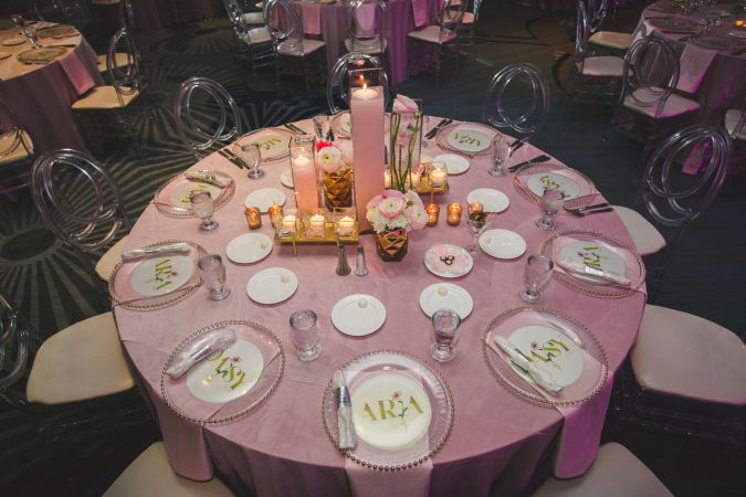 Luxury Table Linen and Napkin Rental for Bat Mitzvahs