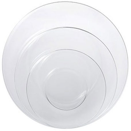 Rent Clear Glass Dinnerware for Events and Special Occasions in Michigan