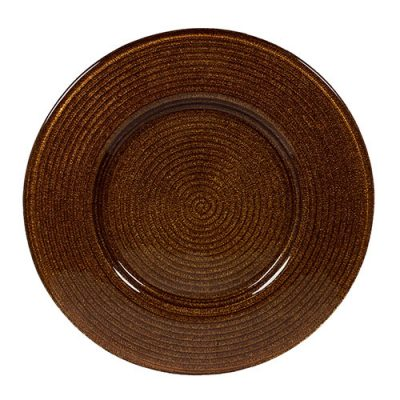 Copper Helix Glass Charger Plate Rental for Events