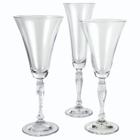 Rent Elegant Glassware for your wedding or special event.
