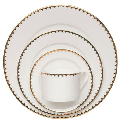 Rent Dinnerware for all occasions in White and Gold