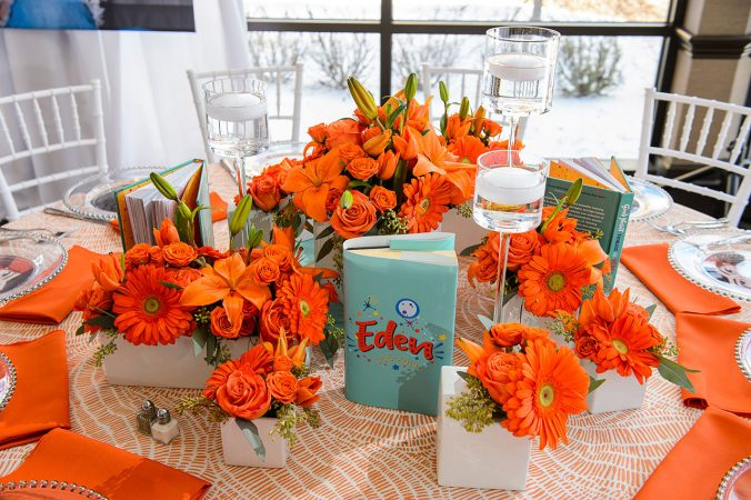 Rent Tangerine Orange Table Linens from Fabulous Events.