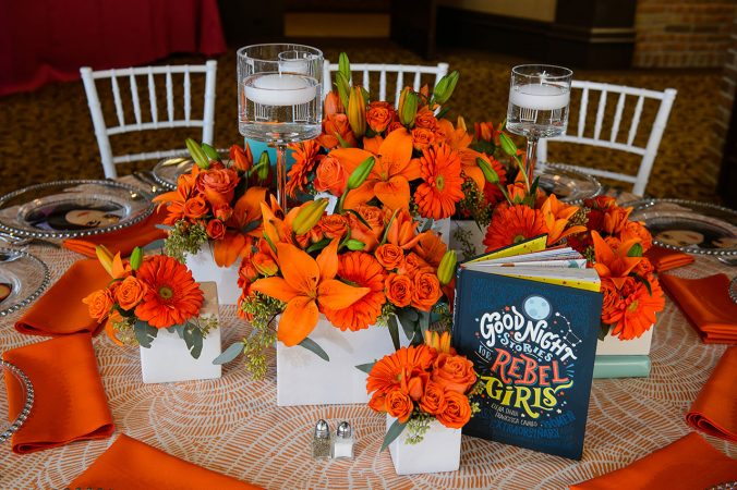 Orange Table Linen Rental from Fabulous Events. Nationwide Rentals of Table Linen, Chair covers, Napkins and Runners.