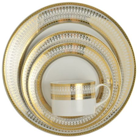 Rent White and Gold China Dinnerware for your Special Event - Fabulous Events