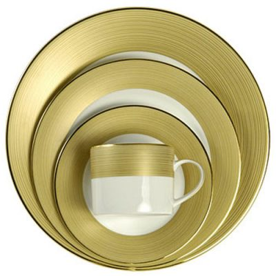 Gold Lines Dinnerware Rentals in Michigan and Ohio
