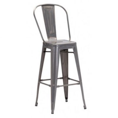 Gun Metal Elio Bar Stool Rental in Michigan