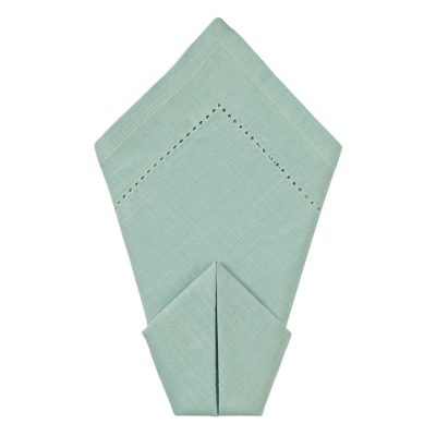 Bay Hemstitch Dinner Napkin Rentals from Fabulous Events