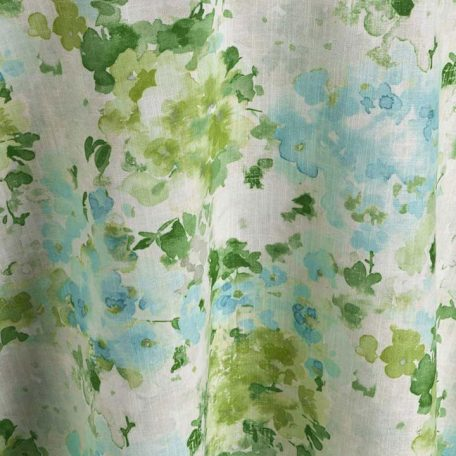 Green and Blue Hydrangea Table Linen Rentals from Fabulous Events.