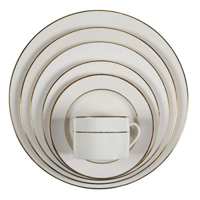 Rent Ivory and Gold Dinnerware for Parties and Special Events.