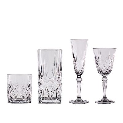 Melodia Glassware Rental for Weddings and Special Occasions from Fabulous Events