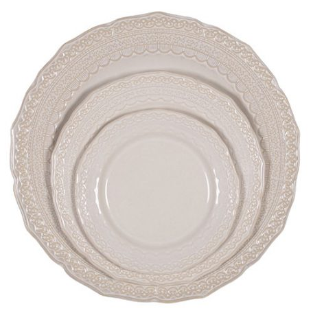 Sienna Lace Dinnerware Event Rentals in Michigan and Florida