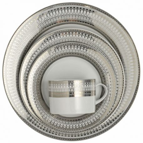 Silver Iriana Dinnerware Rentals for Parties, Weddings and Events in Ohio, Michigan, Florida