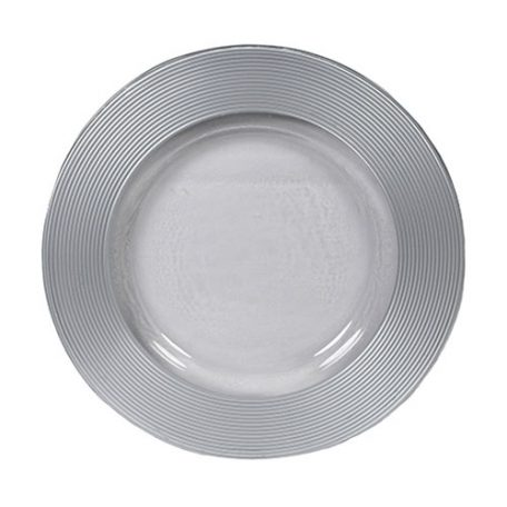 Rent Silver Saturn Glass Charger Plates for Special Events