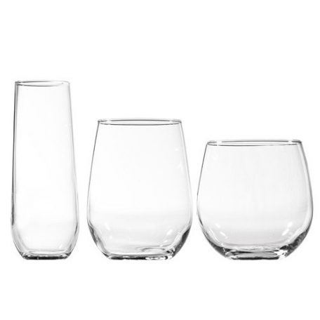 Stemless Glassware Rental from Fabulous Events in Michigan, Ohio and Florida
