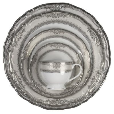 Vanessa Platinum Dinnerware Rentals in Michigan, Pennsylvania and Ohio. RENT TODAY