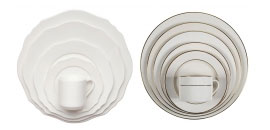 Rent a variety of dinnerware from Fabulous Events for your wedding, party or special event.
