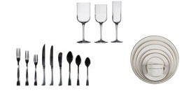 Rentfro our vast collection of tabletop accessories from china to glassware and flatware. Rent from Fabulous Events