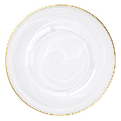 Rent our Alabaster Milk Glass Charger for your Wedding or Special Event. Available Nationwide from Fabulous Events.