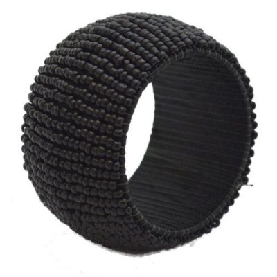 Rent Black Beaded Napkin Rings from Fabulous Events. Nationwide Shipping.