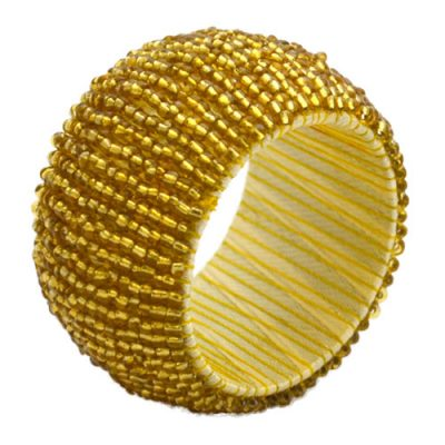 Rent Gold Beaded Napkin Rings from Fabulous Events. Nationwide Shipping.