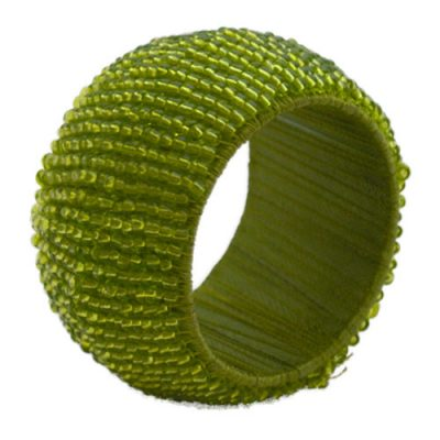 Rent Moss Green Beaded Napkin Rings from Fabulous Events. Nationwide Shipping.